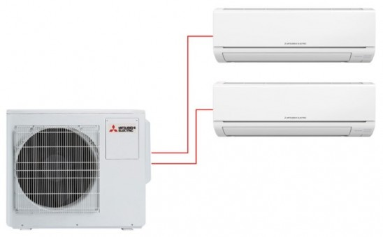 Мульти сплит-система Mitsubishi Electric MSZ-DM35VA×2 / MXZ-3DM50VA
