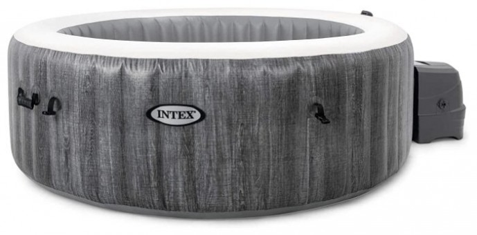 СПА бассейн Intex PureSpa Bubble Therapy GreyWood Deluxe (28440)