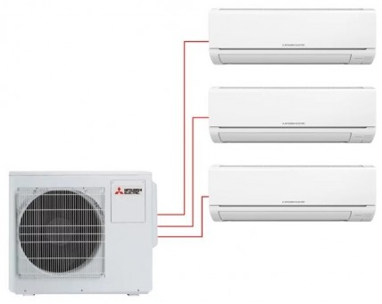 Мульти сплит-система Mitsubishi Electric MSZ-DM25VA×3 / MXZ-3DM50VA