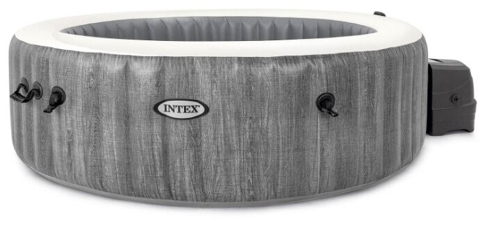 СПА бассейн Intex PureSpa Bubble Therapy Greywood Deluxe (28442)